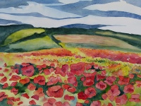Poppies over Hill and Vale