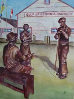 Bronze Figures at Gulf of Georgia Cannery